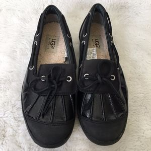 UGG 1001768 Black Ashdale Duck Shoes Size 7.5